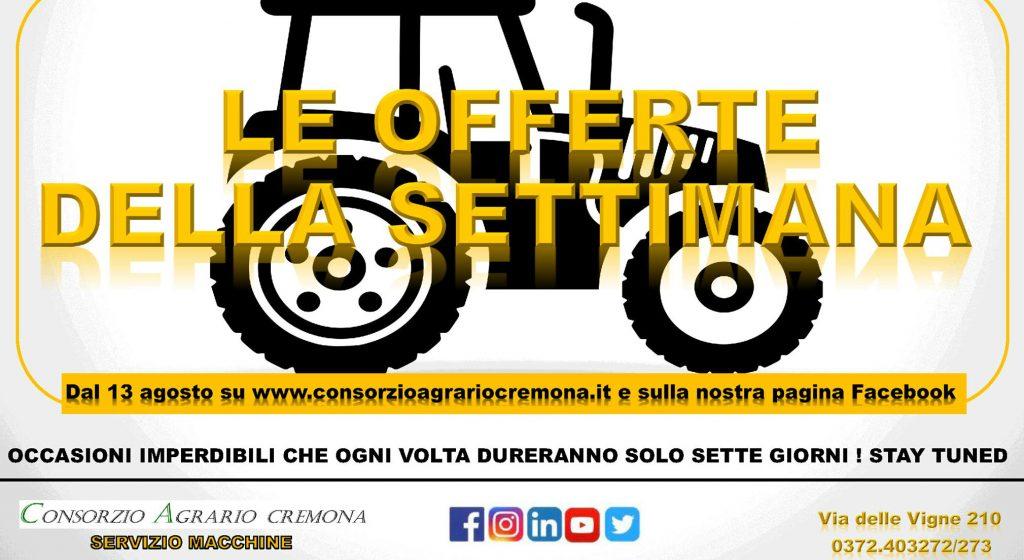 Servizio macchine arrivano le offerte della settimana for Consorzio agrario cremona macchine agricole usate